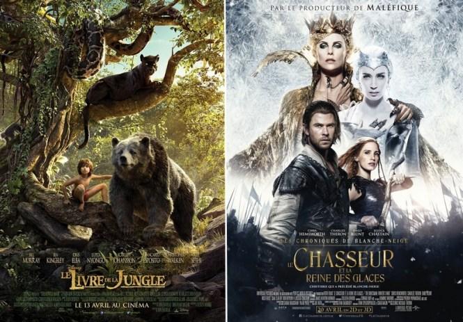 Chronique Cinéma Disney - Le Livre de La Jungle + Les Chroniques de Blanche-Neige Le chaseur et la reine des glaces
