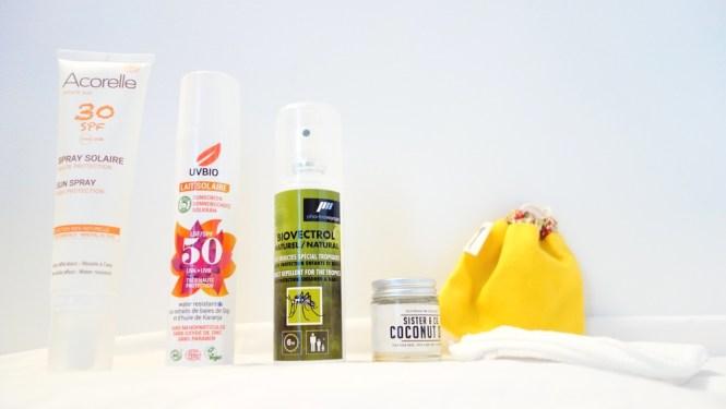 Ma trousse de toilettes pour un mois en Indonésie - Tache de rousseur, blog beauté naturelle et lifestyle