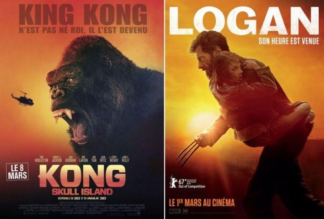Critique Cine - Kong Skull Island + Logan