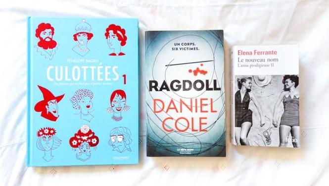 Mes lectures 16 - Les culottes 1, Ragdoll, Elena Ferrante L'amie prodigieuse 2 le nouveaun nom (4)