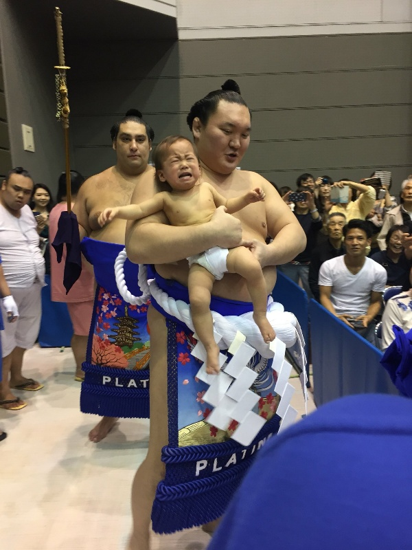 Yokozuna Dohyo Iri with baby
