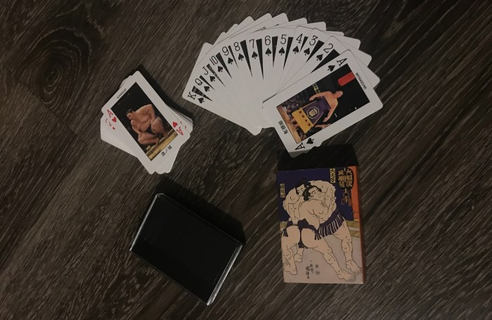 Sumo Rikishi Playing Cards