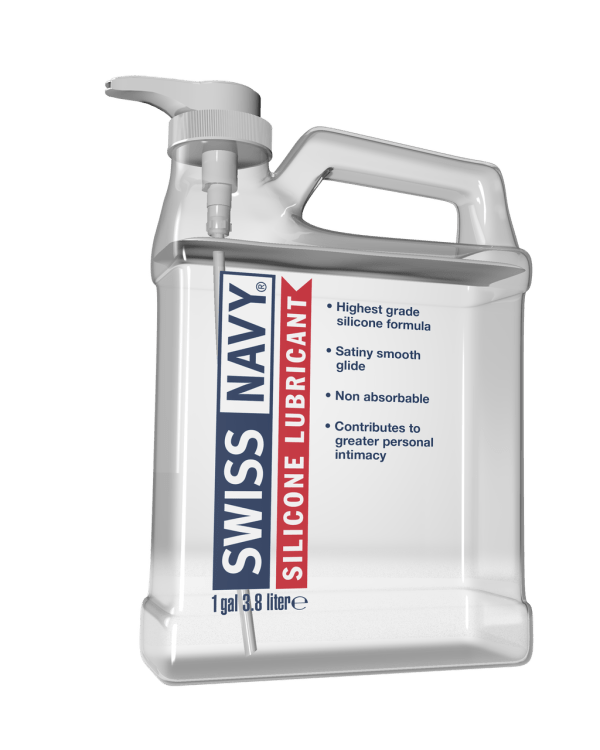 Swiss Navy Lubricant Silicone Transparent 1 Gallon