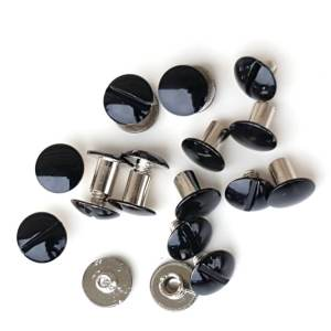 1-4-enamel-black-Chicago-Screw-hill-saddlery-leather-company-2