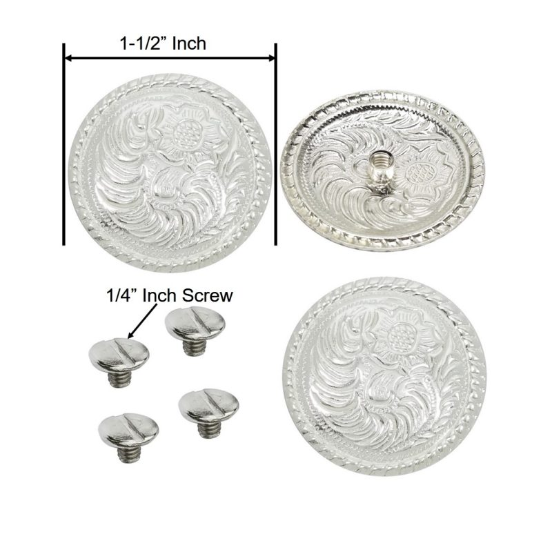 1 1//2/'/' Hand engraved Silver concho # T108