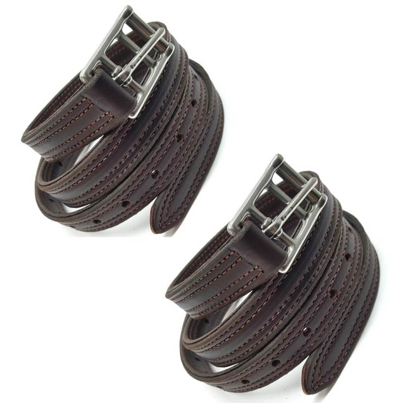 """2 pack 55"""" english replacement stirrup leathers from hill saddlery"""
