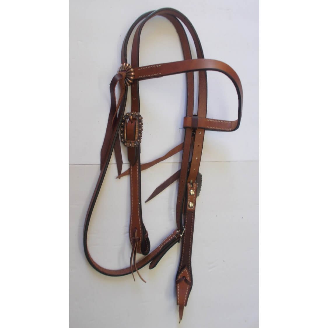 "WESTERN HORSE HEADSTALL BRIDLE SADDLE COPPER COLOR CART BUCKLE fits 3//4/"" strap"