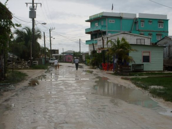 Wet hot and sticky weather Belize