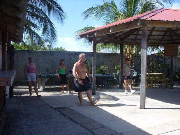 Zac teaching a Tai Chi walk