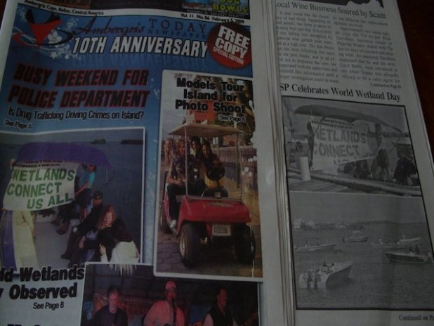 Ambergris Today 10th anniversary newspaper
