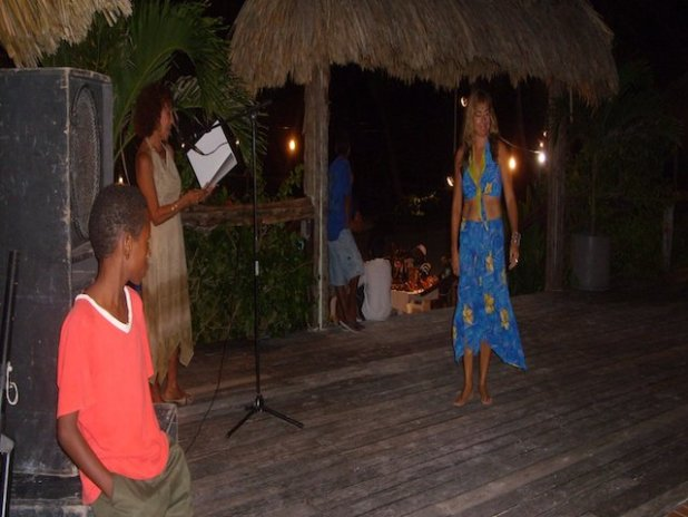 Cindy modelling for Caribe Creations