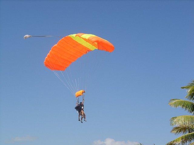 Orange & yellow parachute