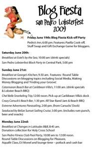 Blog Fiesta Official Schedule