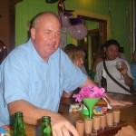 Robbie guest bartending