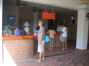 Checking on at Hotel Colibri