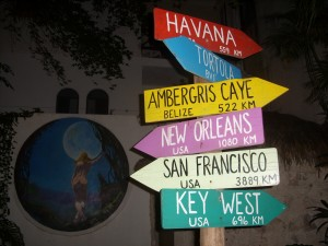 Ambergris Caye sign