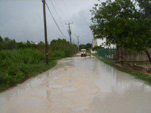 Rainy day roads