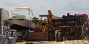 Boat - Bulldozer - Dump-truck