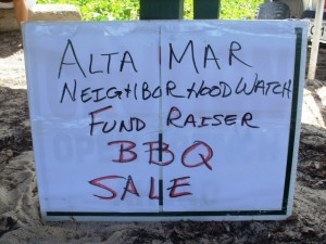 Alta Mar neighborhood watch fundraiser