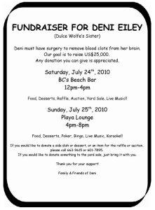 Deni Eiley fundraiser