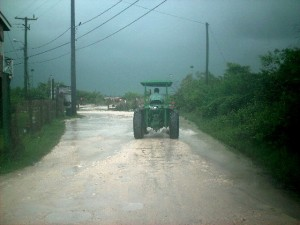 Tropical Storm Karl affecting Belize weather