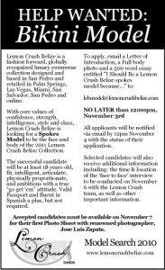Lemon Crush Belize Bikini Model Search
