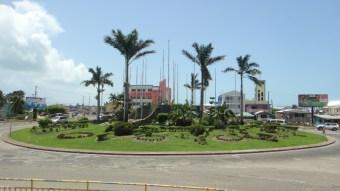 Turning circle Belize City