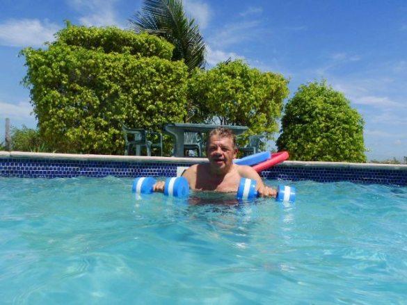Aquafit classes Ambergris Caye