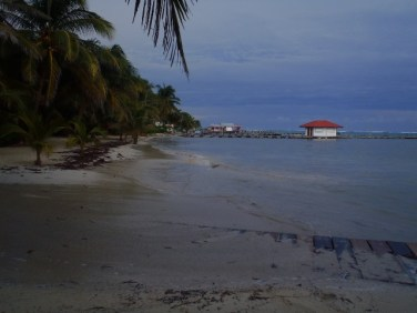 tropical storm pictures ambergris caye belize