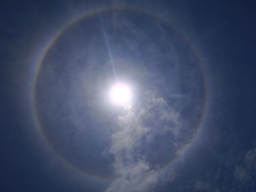 Cirrus clouds and solar halo