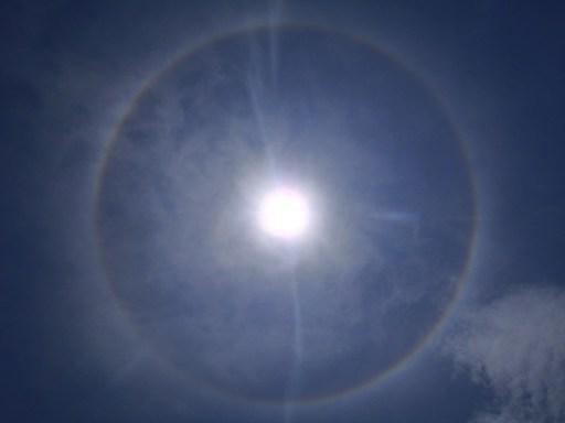 Halo around the sun belize