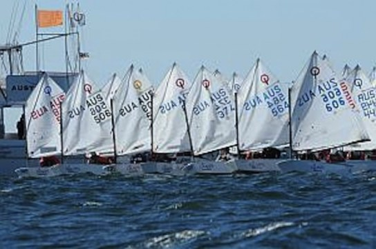 san pedro sailing club optimist dinghies