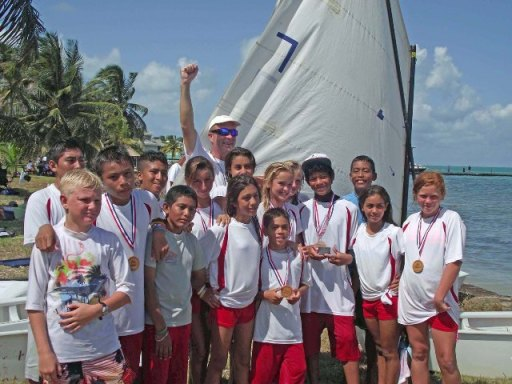 sailing in belize