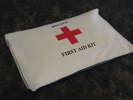 personal sized first aid kit from belize red cross