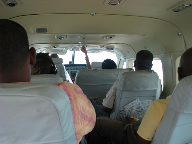 view inside maya plane on our trip from municipal airport to placencia airport