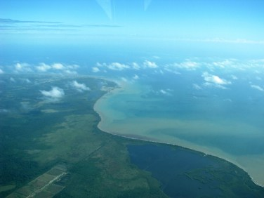 belize coastline artial picture