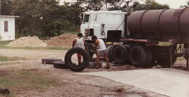 Belmopan and rebuilding Perdomo Rum Plant in the early 90's