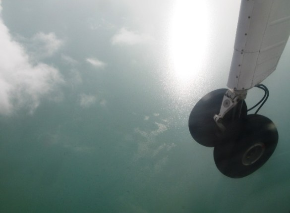 flying from san pedro to corozal