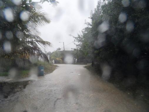 Belize weather brings us lots of rain.