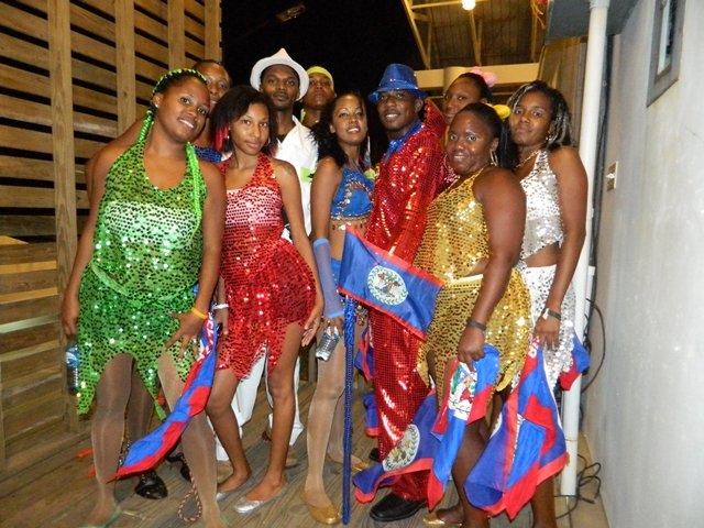 talented belizean artists at the belize national song competition 2014 memorial park belize city
