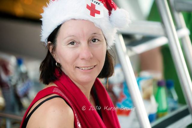 laurie norton of tacogirl.com and san pedro belize red cross