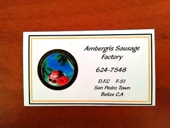 Ambergris Caye Sausage Factory