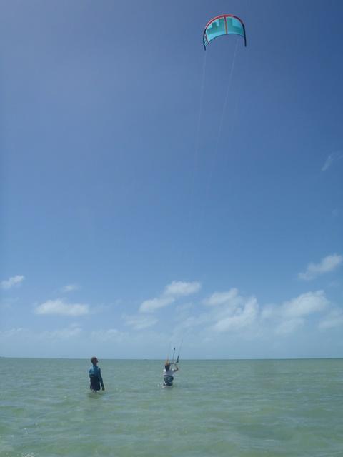 kite-surfing in Belize
