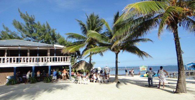 Crazy Canucks Beach Bar Ambergris Caye