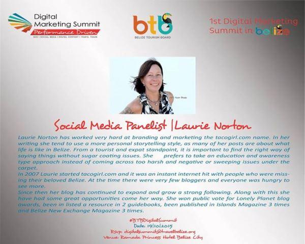 First Annual Belize Tourism Board Digital Marketing Summitt 2015