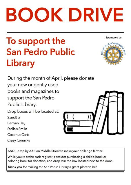 Ambergris Cay Rotary club book drive