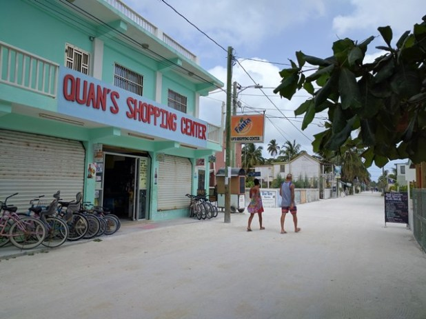 Shopping on Caye Caulker