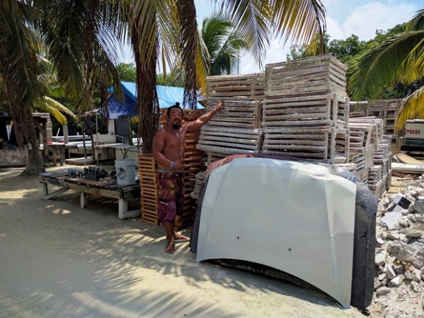 Getting ready for lobster season in Belize