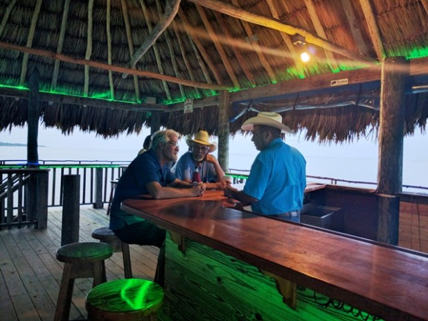 Upstairs deck at Palapa Bar Belize