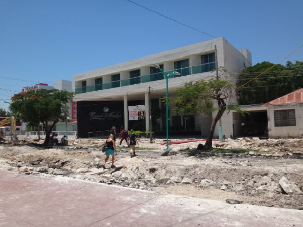 Road construction in Chetumal Mexico
